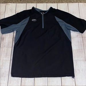 Men's Rawlings baseball pull over size medium
